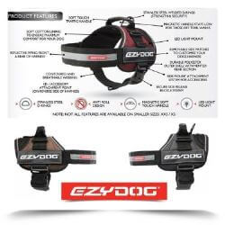 Ezydog Convert Harness Black large