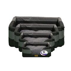 It's Bed Time All Terrain Basket Bed Black/Grey medium