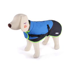 Kazoo Active Two Tone Coat Blue 66cm