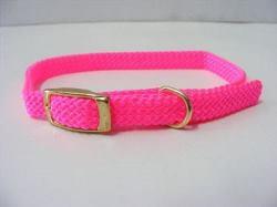Puppy Collar Nylon Pink