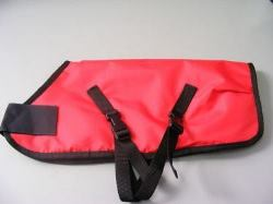 Ripstop Nylon Dog Coat Waterproof Red 55cm