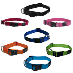 Rogz Collar Fanbelt 34-56cm Assorted Colours