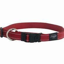 Rogz Collar Fanbelt 34-56cm Red