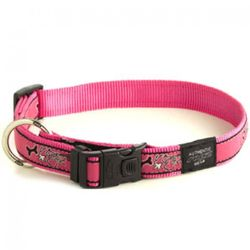 Rogz Collar Pink Bone 34-56cm Large