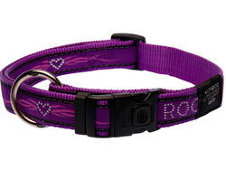Rogz Collar Purple Chrome 26-40cm