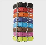 Rogz Leather Collar large 38-49cm Assorted Colours