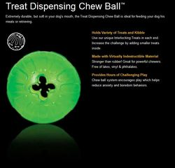Starmark Treat Dispensing Chew Ball Large