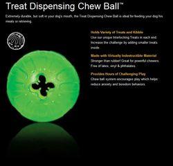 Starmark Treat Dispensing Chew Ball MediumLarge