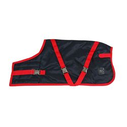 Zees Supreme Dog Coat Navy Stone/Red 46cm