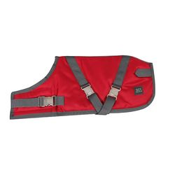 Zees Supreme Dog Coat Ruby Red/Grey 46cm